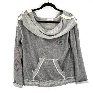 Gypsy 05 Aztec Connect print slouchy cowl neck top